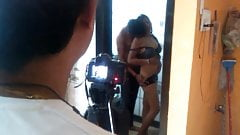Shooting Romance in Bathroom