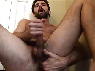 Bearded Tegan Zayne Finger Fucks Himself, Jerk Off & Cums