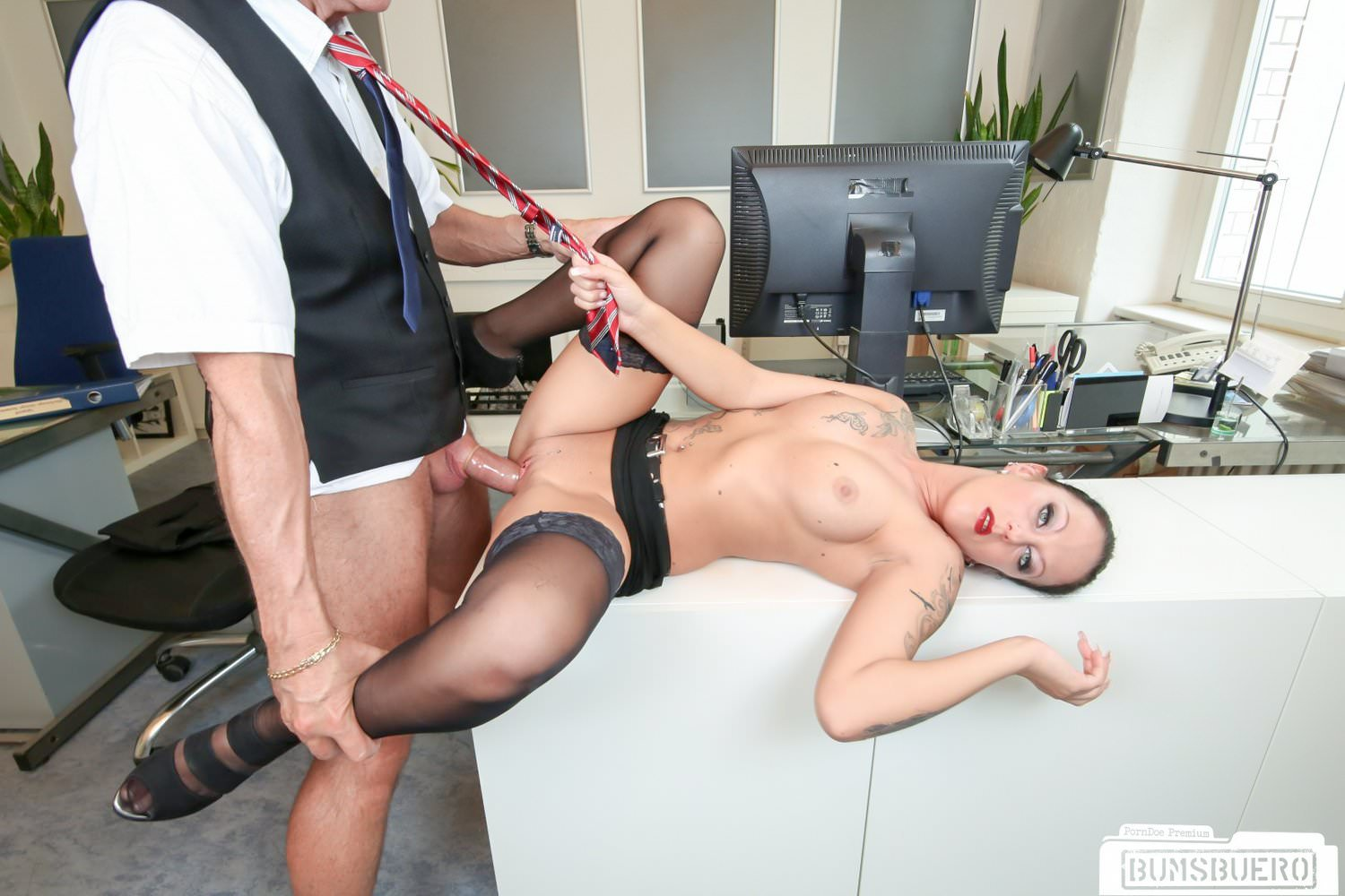 German Milf at Office - hotcams365&period