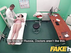 Fake Hospital Shaven Russian pussy fucked hard by doctor