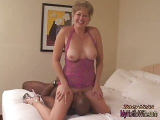 Preview 4 of Tracy Licks.....Takes MrNuttz's 9 inch, big, black cock!!