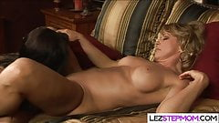 Big tits lesbian mom and stepdaughter