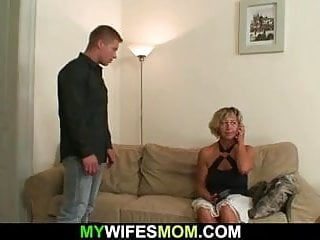 Hot mom-in-law sucks and rides his dick