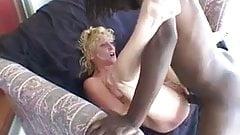 Amateur blonde milf loves black cock