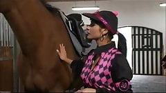 Hot young jockey Tera get a riding lesson
