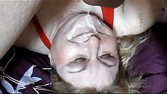 BBW Mature Linda's Upside Down Messy Facial