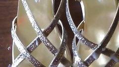Cum on gf gold classy diamond sandals