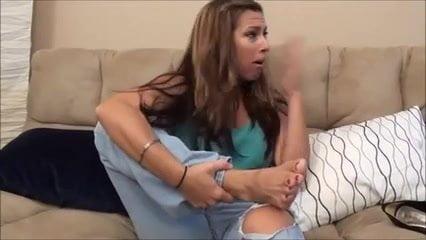 Milf Smells Her Stinky Feet