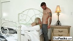 Elsa Jean gets woken up for a creampie