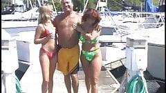 Two mature amateur sluts suck each others tits