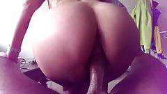 Big booty on cock