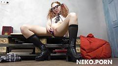 Sexy ginger teen Lilien - Sexy Naughty Schoolgirl Uniform