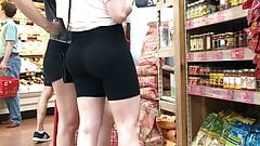 Two sexy teens in short shorts