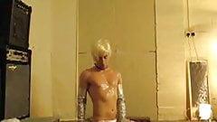 slaveboy in silver boots
