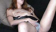Shy redhead Scottish geek upskirt masturbation