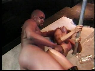 Horny black girl rides a huge black dick