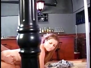 Naughty stripper sucks cock and gets fucked on stage