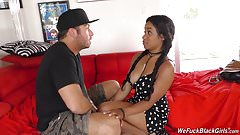 Hot black girl Jenna suck and fuck white guy