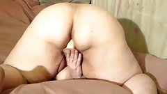 bbw wife toying from behind thumb