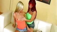 Lesbian babes at play