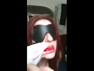 HOT FUCK #163 Blindfolded Submissive Thick Redhead Babe