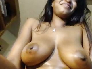 Quick squirt orgasm by big breast lady