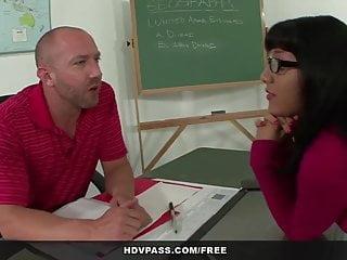 Latina schoolgirl Liv Aguilera sucks and fucks her teacher