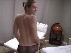 Blonde amature wife striptease