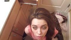 Gorgeous girl spunked