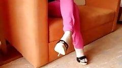 Women showing her high heels