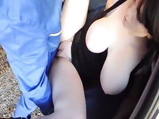 Busty Girl Getting Fucked Outdoor By Car Mechanic