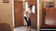 Cougar Charlee Chase Shares Hard Cock WIth Amber Lynn Bach!