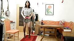 sandralein33 Striptease in school girl Outfit