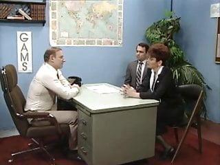 Get a blow job - Old boss at desk job getting a blow job