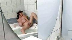 Merilyn Sekova - Huge tits bath masturbation