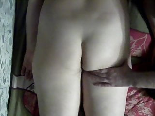 Massage my wife ass and legs, touch and tease the pussy