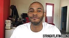 Straight jock takes money for raw bareback threesome POV