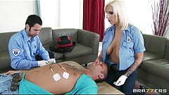 Brazzers - Sexy blonde paramedic Lylith Lavey fucks patient