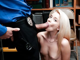 Shoplyfter - Cute Blonde Teen Takes Huge Load