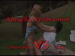 Shemale VS Guy ( Adryella Vendramini)