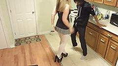Ballbusting Teen Little sister