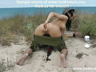 Sexy soldier self anal fisting on baltic dunes - Hotkinkyjo
