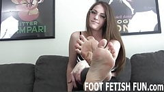 I will let you worship my perfect feet