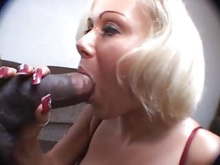 Long Nails Mature Lady sucking Black Cock