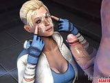 Big tits blonde Cassie Cage fucked in different positions