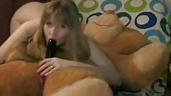 Hot Amateur Licks And Rides Teddy Bear With A Strapon