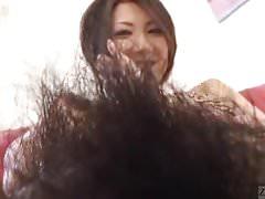 Subtitled Japanese amateur perfect bush naked body check
