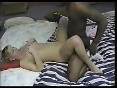 She finally got fucked by a black guy and hubby cleaned her