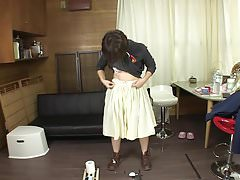 Subtitled Japanese amateur pee desperation failure in HD