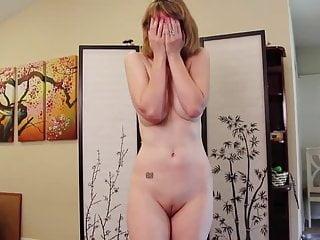 Divorced MILF humiliating striptease video